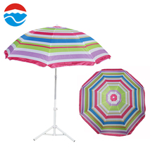 170CM*8K color bar hawaii fashion beach umbrella without tilt