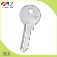 VI081 VI082 padlock key blank with brass copper material silver white color