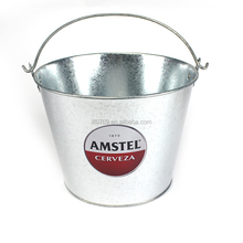 Metal ice beer buckets with handle