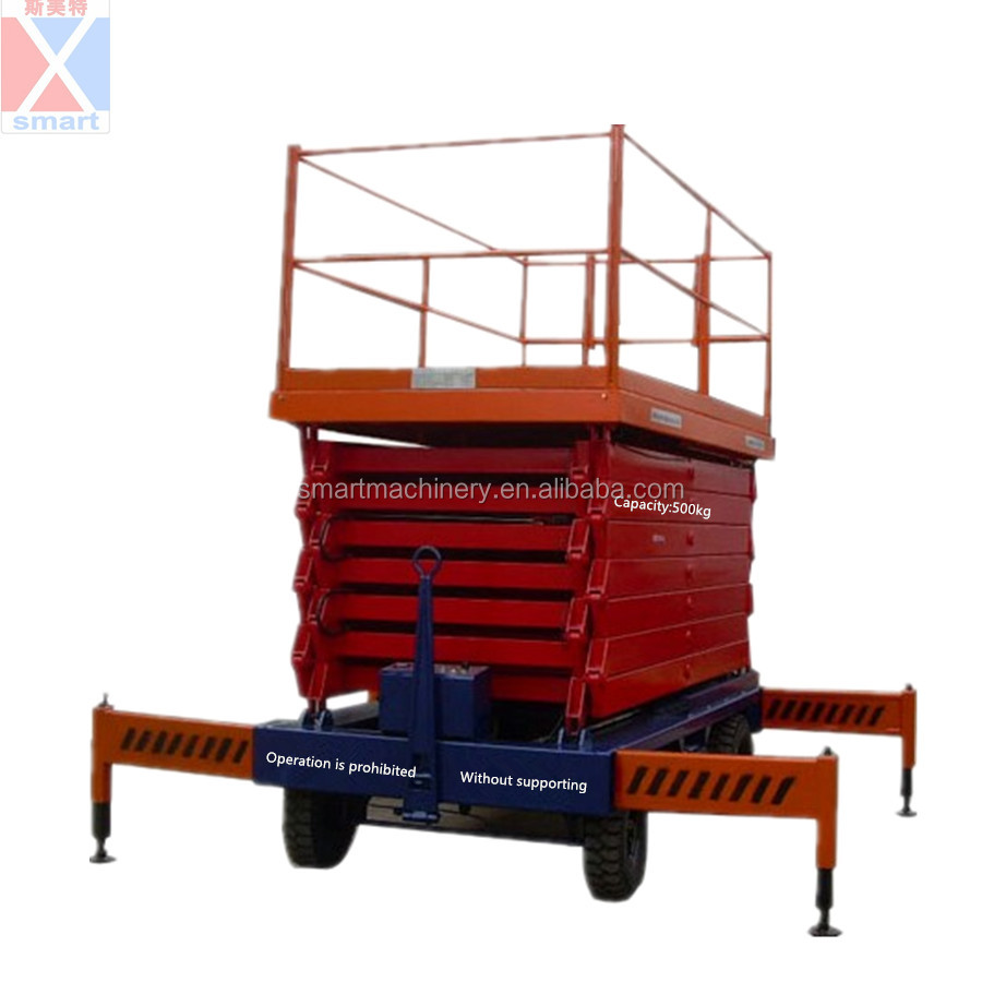 Hand manual high lift platform truck