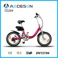 "popular 20"" assist high quality very cheap foldable electric bicycle Aodeson TZ204"