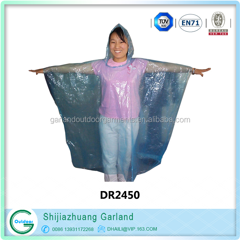 cheap wholesale disposable raincoat promotion disposable rain poncho