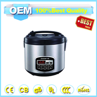 2016wholesale quickly rice cooker with Electroplating control box function by menu settings