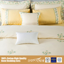 China Supplier Bed Sheet Sets Embroidery Design, 100 Cotton Flower Bed Cover Sets with Pillow Case