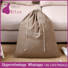 Custom muslin cotton camel luxury apparel drawstring bags French style