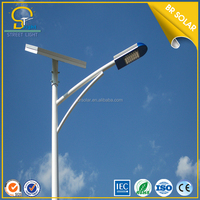 40W 50W 60W 80W engineering steel battery box bridgelux modular led solar street light