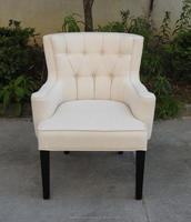 French Linen Upholstered Side Chair, Upholstered Dining Chair, Upholstered Side Chair