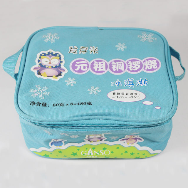 Quality frozen lunch foldable ice cream cooler bag