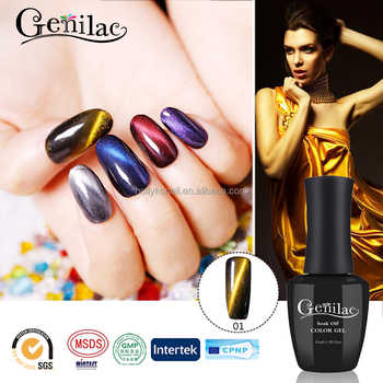new fashion diamond glitter magnetic chameleon 3D cat eye uv gel gel nail polish professional manufacturers
