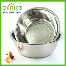 18-40cm stainless steel washing basin/mixing bowl/soup basin