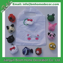 New Cute Cartoon Reusable Animal Bee + Pig +Fish + Frog + Ladybug + Rabbit + Kitty Foldable Eco Reusable Folding Shopping Bags