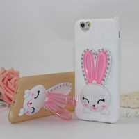 Most popular cute rabbit solf TPU smartphone cover case for samsung galaxy s3,note 3,note 4