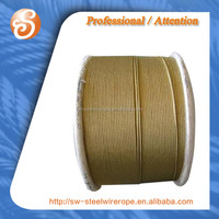 Hot sale 6x7+FC ungalvanzied steel wire rope for sea water with asphalt