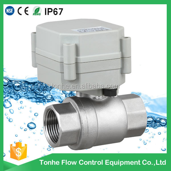 DN20 Actuated ball Valves SS304 BSP NPT motorized electric ball valve stainless