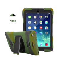 Free Sample Drop Resistant Army PC Silicone Cover Holder Case for Ipad Apple Air Mini 2