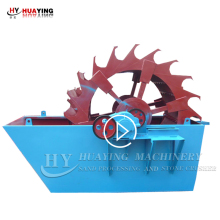 High quality bottom price small bucket wheel sand washer for sale