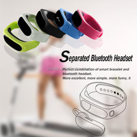 OLED Display Smart Watch Bluetooth Bracelet with Call Answer / Time / Music / Caller ID / Vibration / Ringtone / Earphone