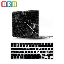 2 in 1 Marble Rubberized Hard shell Case Cover and hard keyboard cover skin for mac book air 13 15