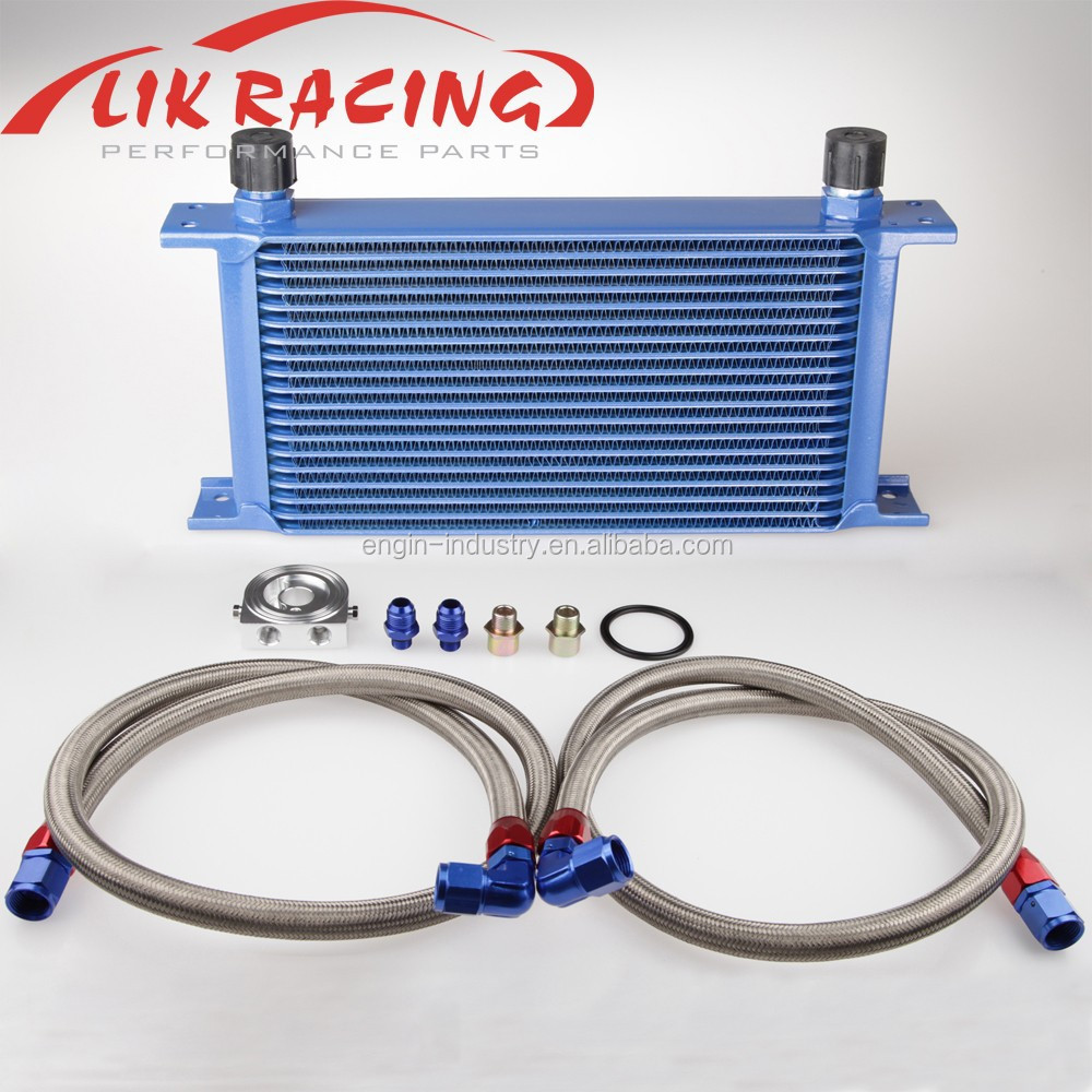 19 Row Universal 10AN Mocal style Engine transmission Oil Cooler Kits