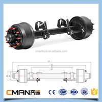 China heavy duty flat bed trailer suspension 13ton axle for sale