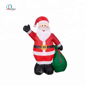 Christmas holiday 10ft inflatable santa claus with gift