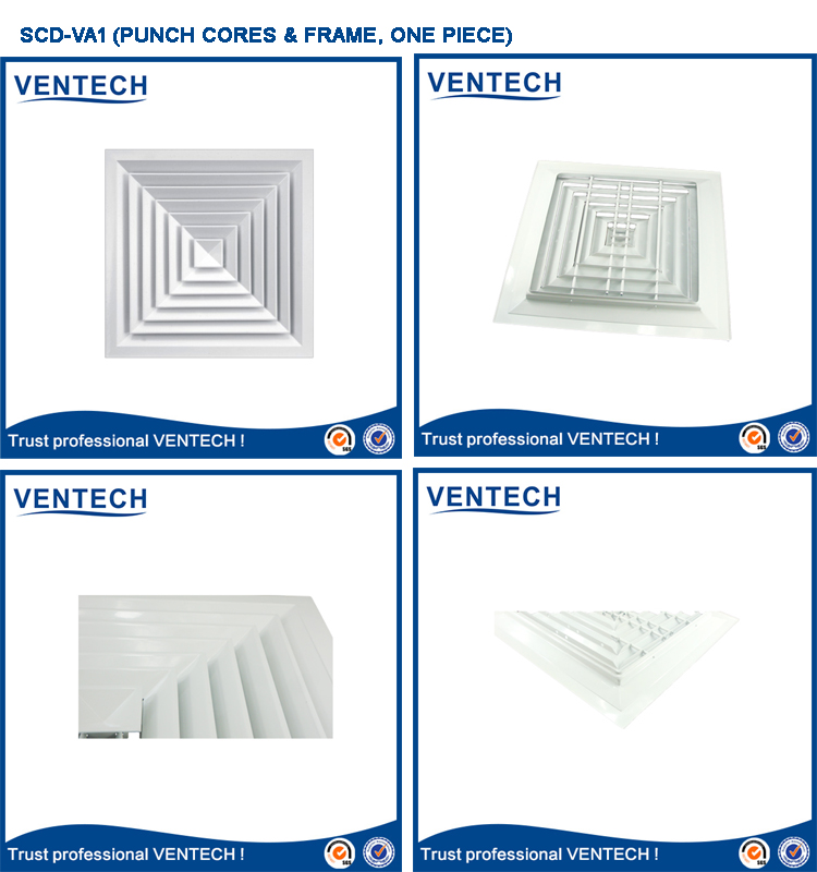 Interior Drywall Air Register Square Diffuser AC Vent Grill for Ceiling Duct