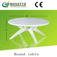 guangzhou small white round plastic tables for sale