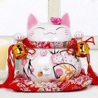 Pink Lucky Cat For Home Decorations