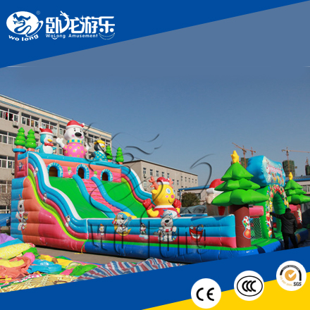 inflatable bounce play house, bouncy castle with slide