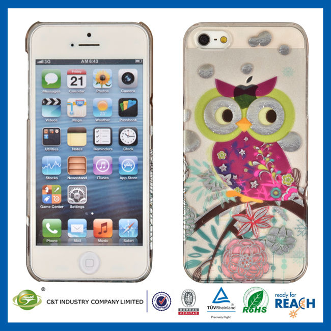 C&T Owl on the branch plastic hard cover skin for iphone 5""