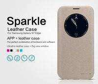 Nillkin Leather Case For S7 Edge Sparkle Flip Leather Case With Big View Window