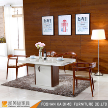 Coffee shop office used 4 leather chairs glass top dining table set