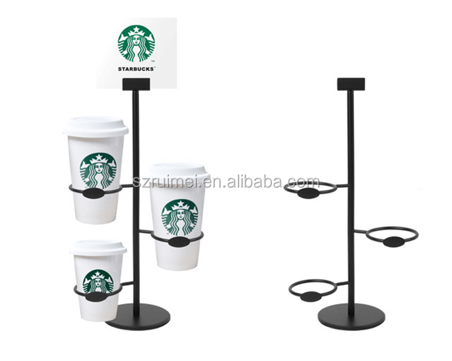 Multi-Layers Starbucks Coffee Cup Display Stand