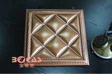 Big discount 3d decorative leather panels with good quality