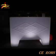 New design 120*90*40cm straight bar counter,led bar table,square bar counter