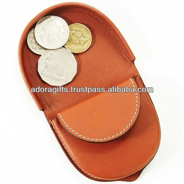 ADACC - 0045 super quality coin purse manufacturer / foldable coin holder / most popular coin leather case