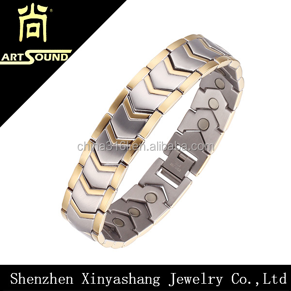 fashion gold health bracelet hand chain designs for men