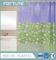 bath curtain with printing soft peva material 3d lines with best quality