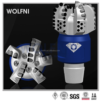 petroleum or oil well PDC drill bit with 5 blades