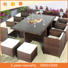 Factory Direct Waterproof Rattan Furniture for Hotel Outdoor Wicker Furniture Webbing