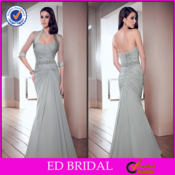 Silver Grey Sexy Vintage Mother Of The Groom Dress 2015