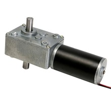 dc 12v double shaft electric dc worm gear box reduction motor