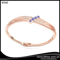 zinc alloy jewelry Best selling Brand Charming crystal Bangle