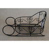 Country antique sleigh shape wire gift basket