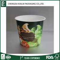 biodegradable plastic cup for ice cream and frozen yogurt
