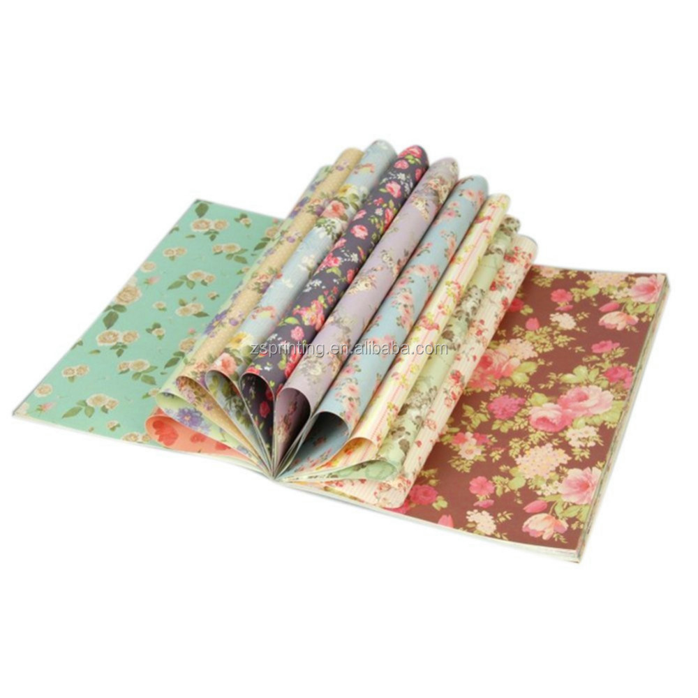 China wholesale printed flower gift wrapping paper book