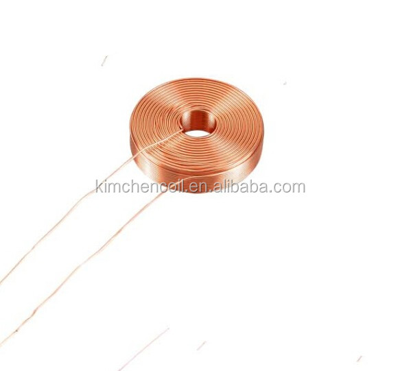 Customized round induction coil copper air core coil copper wire wound