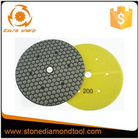 "7"" Resin dry diamond hand polishing pads for Conctete"