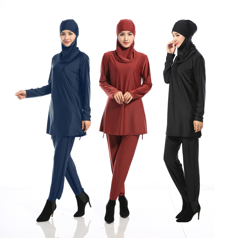 X62750A New Full Covered Ladies Long Sleeve Modest Islamic Swimwears