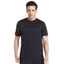 Oem factory black short sleeve breathable mans poly t-shirts wholesale